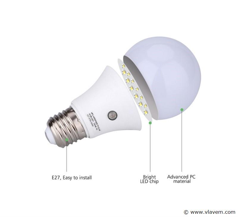 50 x E27 15W LED-lamp peervormig, mat - koudwit
