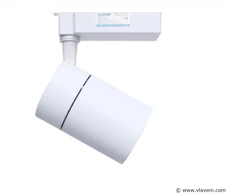 10 x 30W LED RAILSPOT TRACKLIGHT wit - 2550 Lumen - 5000K HELDER WIT LICHT