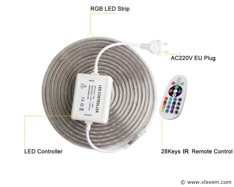 50 meter waterdicht LED strip - RGB