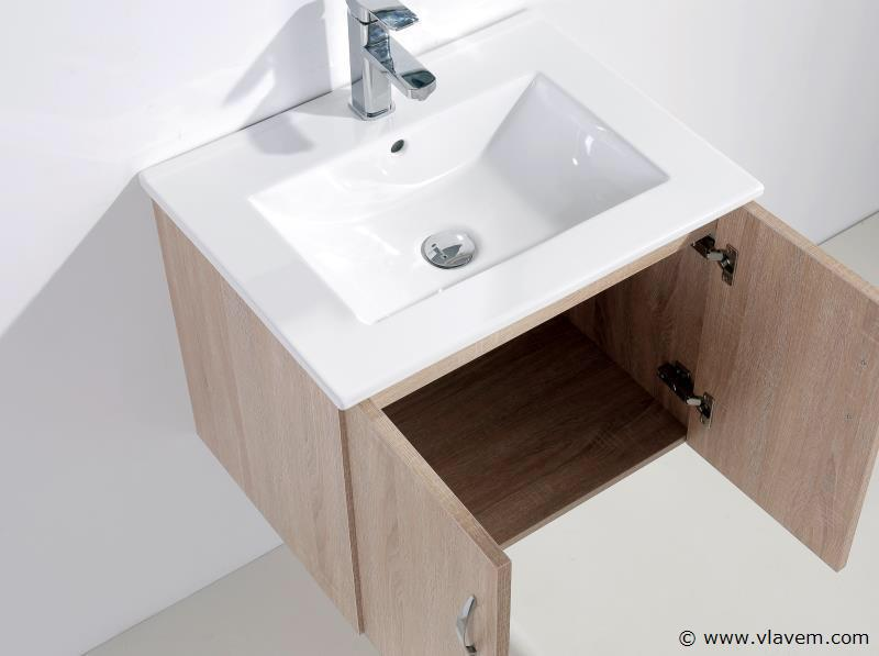 1 st. 80cm Design Badkamermeubel set - Kleur melamine