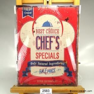Metalen bord Chef's