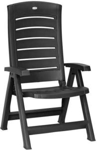 Standenstoel Allibert, 5 standen, kleur zwart antraciet 6x
