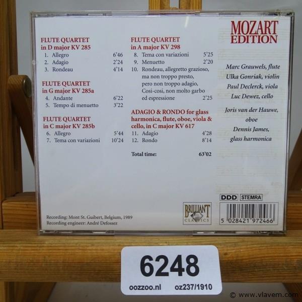 Mozart. Flute Quartets