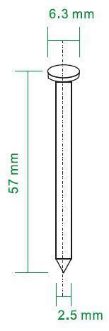 Nagels 57x2,5mm