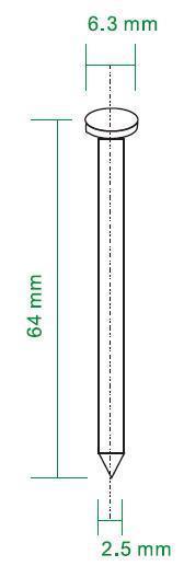 Nagels 64x2,5mm