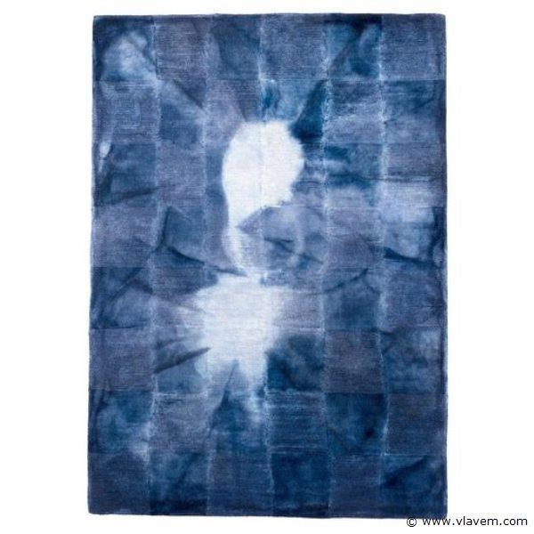 2st. 160x230cm Tapijt - Blauw & Wit
