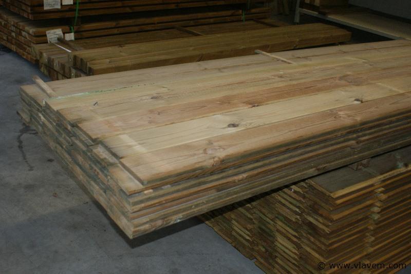Plank geïmpregneerd grenen