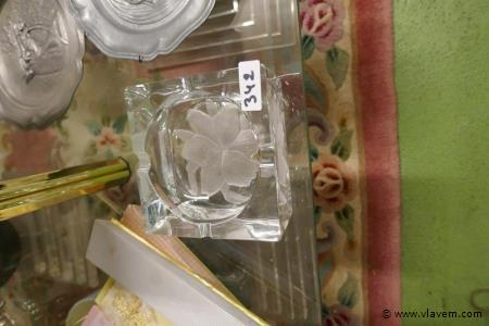 Asbak in zwaar kristal