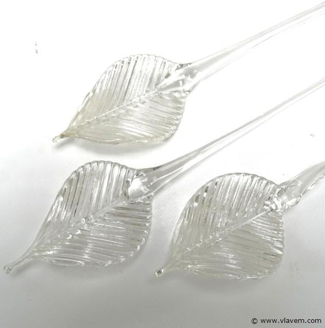 3 glazen roerlepels