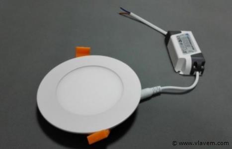 100 x 5W slim warm wit rond inbouw LED panelen