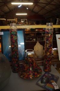 Decoratie in glas met potporievulling