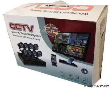 CCTV Beveiligings camera set met 8 cams