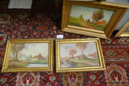 Schilderijtjes op doek