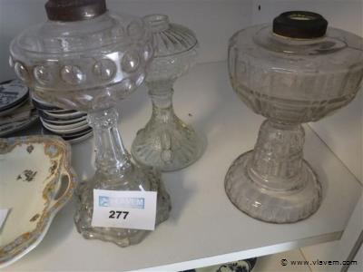glazen lampevoeten