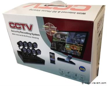 CCTV Beveiligings camera set met 8 cams