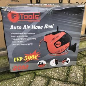 F-Tools Automatische luchtslanghaspel van 20 meter
