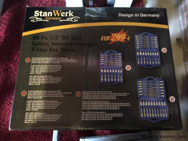 Stanwerk 88-delige Bit sets