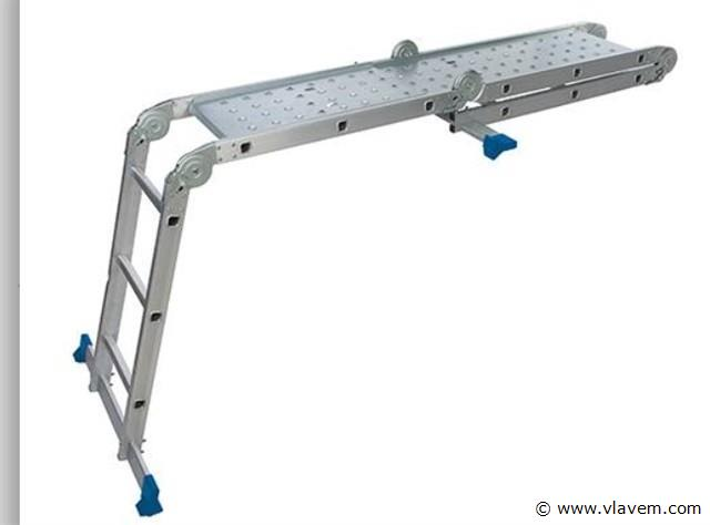 Multifunctionele ladder met platform 12 sporten