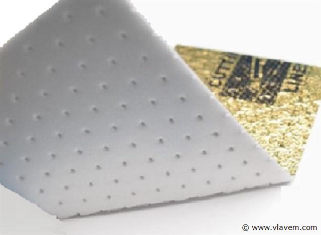 Ondervloer PVC Click vloeren, Gold-Pack 10dB, 100,20 m2