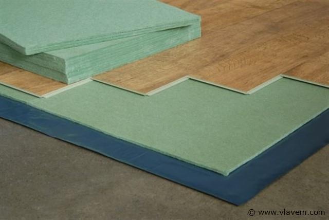 Ondervloer voor Laminaat & Parket Groene platen, 21 m2