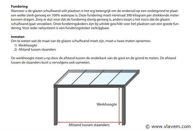 Glazen schuifdeursysteem 5 deurs, veiligheidsglas 10 mm, 4900mm breed, 2300mm hoog, crémewit RAL9001