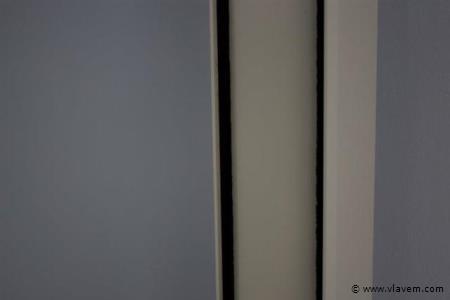 Glasopvangprofielset voor zijkanten, voor 6 deurssysteem, crémewit RAL9001