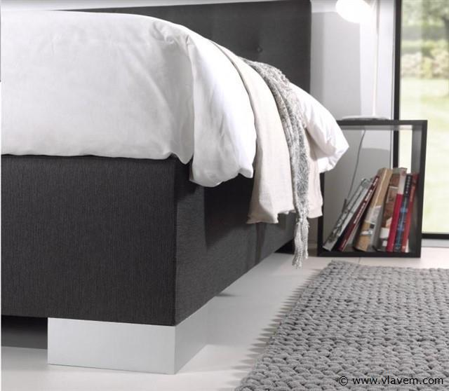 Boxspring elektrisch Modern London, 140x200 cm, antraciet
