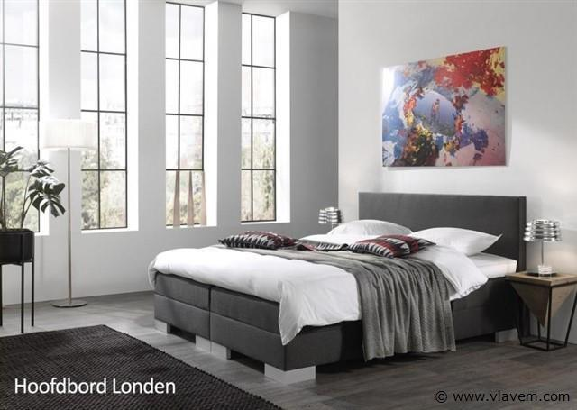 Boxspring elektrisch Modern London, 180x200 cm, antraciet