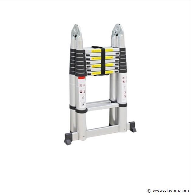 Multifunctionele Aluminium ladder 16 treden, 2x