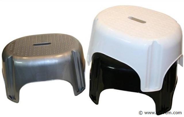 Opstap, mix color zwart/wit/zilver 26 cm. 3x