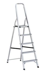 Huishoudtrap 5 treeds, Aluminium