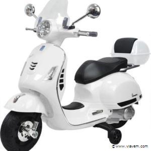 Elektrische Vespa GTS scooter voor kinderen. Kleur Wit