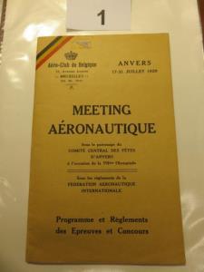 Boekje Aero-club de Belgique van 1920