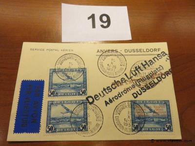Kaart luchtpost Anvers-Dusseldorf