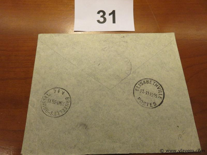 Enveloppe luchtpost Congo