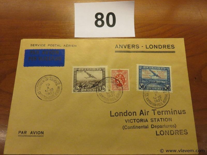 Enveloppe Anvers-Londres