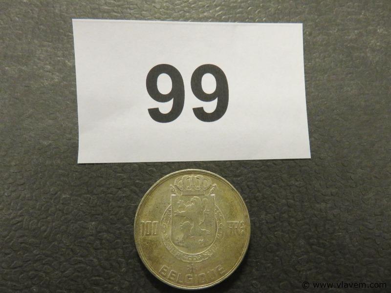 Munt 100 fr van 1954