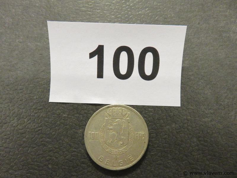 Munt 100 fr van 1951