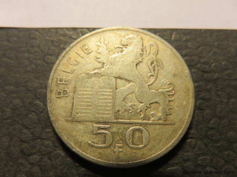 Munt 50 fr van 1950