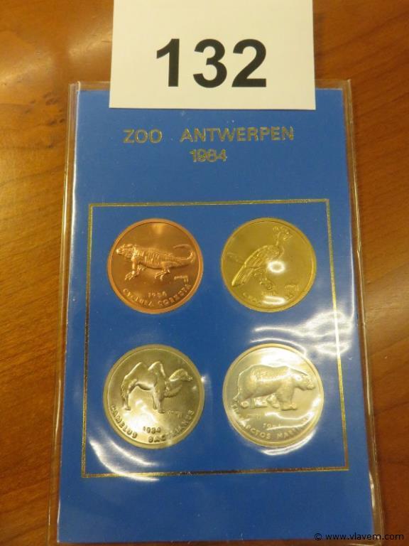 Pakket van 4 munten jaargang 1984