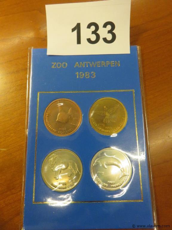 Pakket van 4 munten jaargang 1983