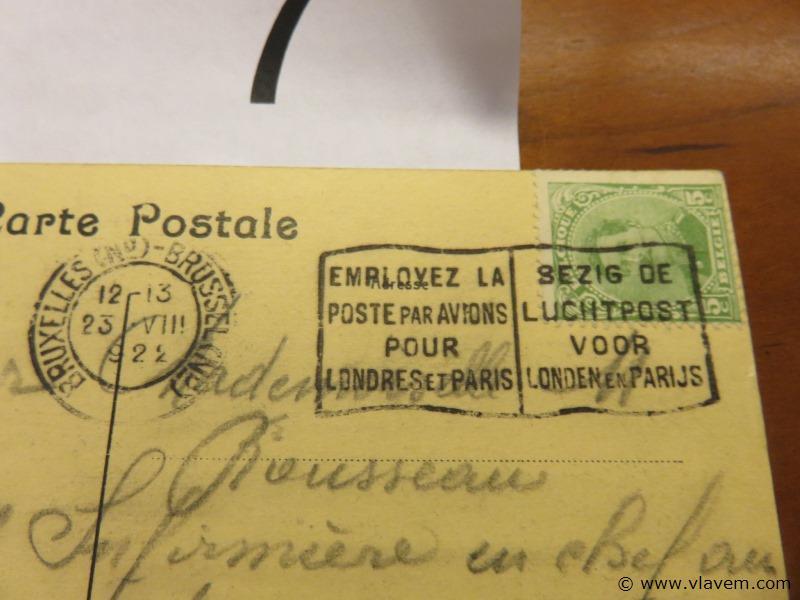 Postkaart Brussel Paleis