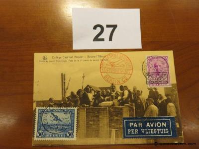 Postkaart Cardinaal Mercier luchtpost