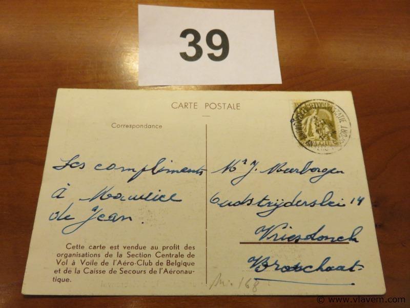 Postkaart 1939