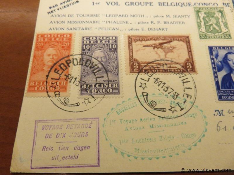 Postkaart 1ste vlucht