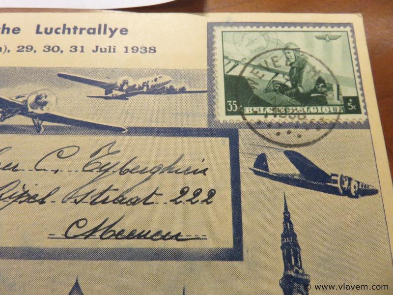 Postkaart Wederlandsche luchtrallye