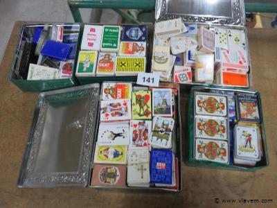 Groot lot speelkaarten