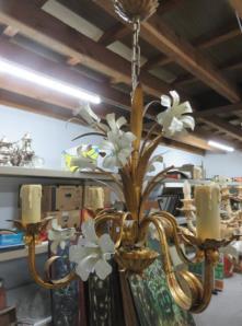 Luster metalen bloemen