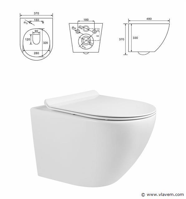 1 st. GEBERIT Complete Design Toiletset met softclose wc bril