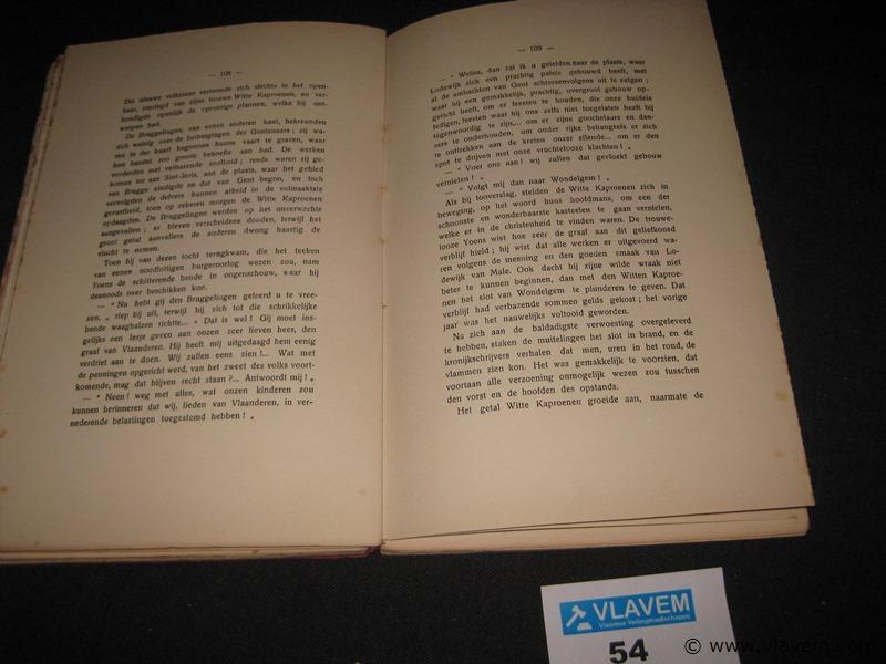 Oud boek De vlamingen in het verleden